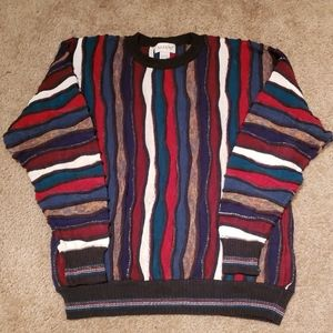 Vtg 90s Colorful Cosby Sweater sz M